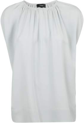 Theory Front Pleated Detail Blouse
