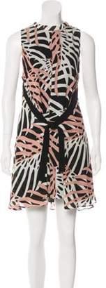 Proenza Schouler Silk Mini Dress Pink Silk Mini Dress