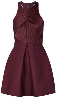 Halston Burgundy Cotton And Silk