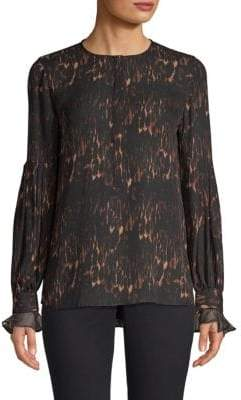 Kobi Halperin Animal Print Blouse