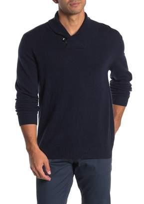 Autumn Cashmere Shawl Cashmere Leather Trim Sweater