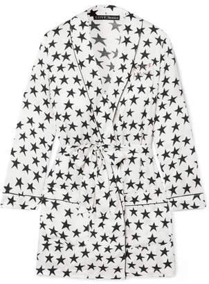 Love Stories - Ritz Embroidered Printed Satin Robe - White