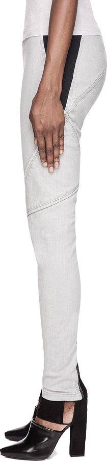 Gareth Pugh Grey & Black Denim Leggings