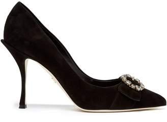Dolce & Gabbana Crystal-embellished suede pumps