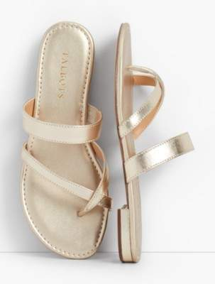 Talbots Gia Toe-Ring Sandals - Metallic Nappa