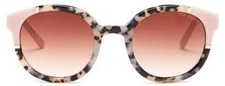 Ted Baker 49mm Full Rim Acetate Round Sunglasses