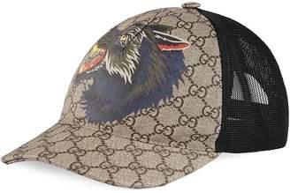 Gucci GG Supreme wolf baseball cap