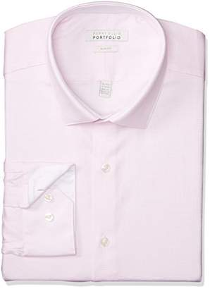 Perry Ellis Men's Slim Fit Performance Nailhead Dobby Dress Shirt