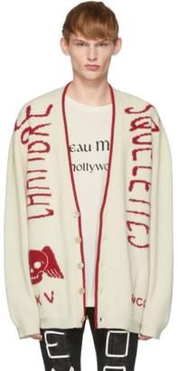 Gucci Off-White Knit Skull Cardigan