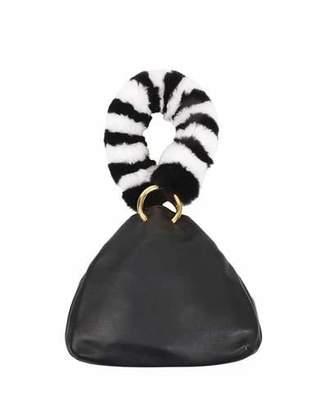Les Petits Joueurs Holly Leather Fur-Handle Bag