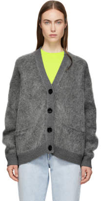 Acne Studios Grey Mohair Rives Cardigan