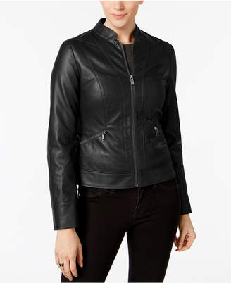 Inc International Concepts Faux-Leather Moto Jacket, Created for Macy's $180 thestylecure.com