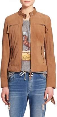 Pam & Gela Women's Fringe Suede Jacket
