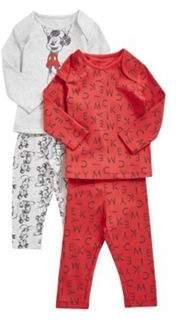 2 Pack of Mickey Mouse Pyjamas