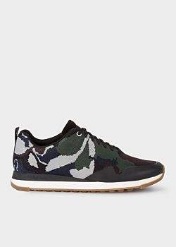 Men's Khaki Camouflage 'Rappid' Knit Trainers