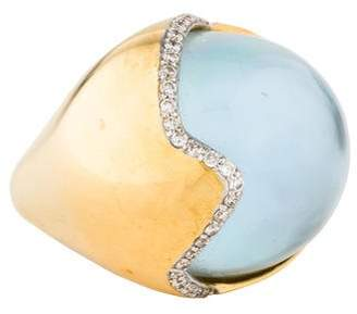 Kara Ross 18K Mother of Pearl, Topaz, & Diamond Hydra Ring