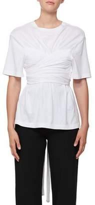 Proenza Schouler Wrap Bustier T-Shirt