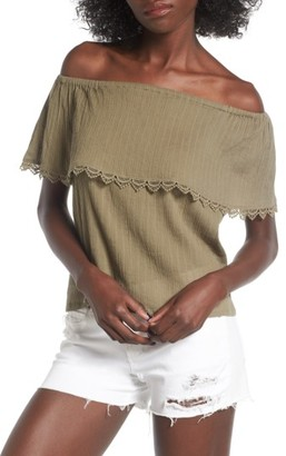 Women's Billabong Spring Fling Off The Shoulder Top $44.95 thestylecure.com