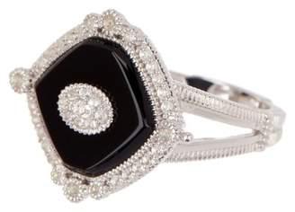 Judith Ripka Sterling Silver Westport Diagonal Cushion Stone Ring