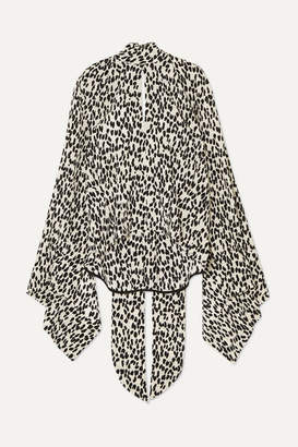 Petar Petrov Leopard-print Silk Crepe De Chine Blouse - Black