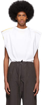 Y/Project White Multi Sleeveless T-Shirt