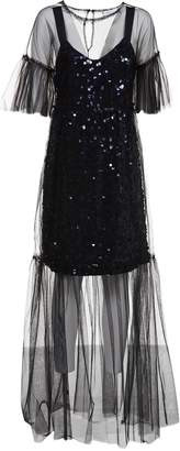 Blumarine Applique Long Dress