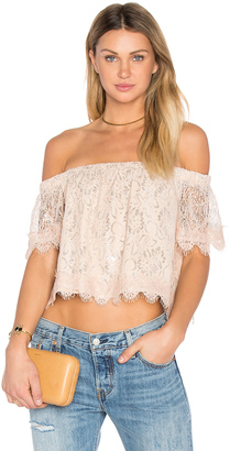 Endless Rose Off The Shoulder Lace Top $60 thestylecure.com