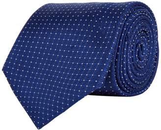 Canali Square Dot Silk Tie