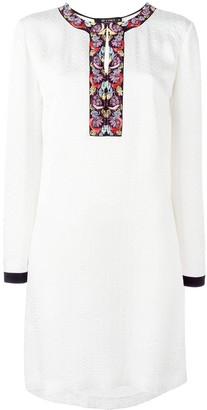 Etro embroidered neck dress