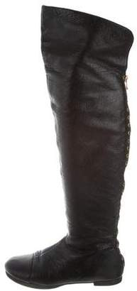 Marc by Marc Jacobs Leather Studded Knee-High Boots