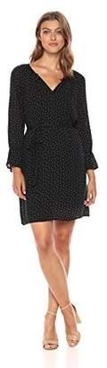 Lucky Brand Women's Printed Bell Sleeve Dress