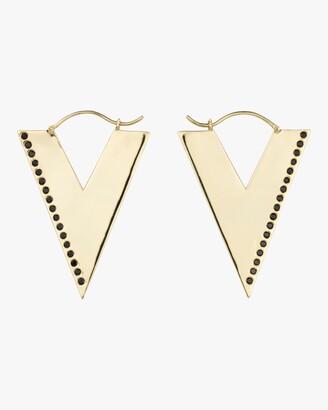 Trilogy Oia Jewellery Black Spinel Hoop Earrings