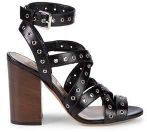 ac11101bc76f Valentino Criss-Cross Grommet Slingback Block Heel Sandals