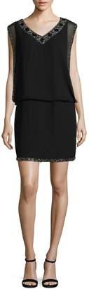 J Kara Beaded Blouson Dress
