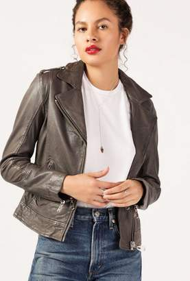 Doma Classic Zip Leather Jacket