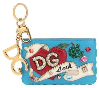 Dolce & Gabbana Leather keychain card holder