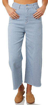 RES Denim New Women's Andy Ankle Wide Leg Jean Cotton Fitted Stripe
