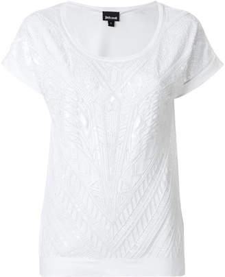 Just Cavalli texture design T-shirt