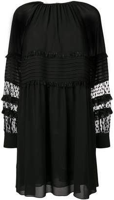 Giamba plumetti sleeve dress