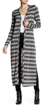 Tart Striped Split Side Cardigan
