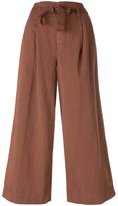 Incotex belted cropped trousers