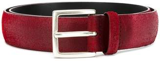 Orciani slightly-distressed mid-width belt