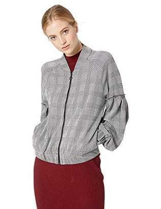Three Dots Women's CP7428 Glenn Plaid Jacquard Jacket