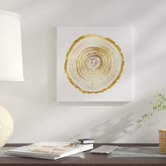 East Urban Home 'Timber Gold II' Graphic Art Print on Canvas