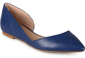 Co Brinley Women's Wide Width D'Orsay Cut-out Pointed Toe Fashion Flats