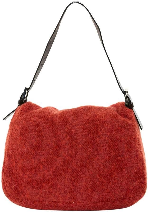 Baguette wool handbag