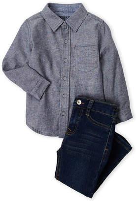 Hudson Toddler Boys) Two-Piece Pocket Shirt & Jeans Set