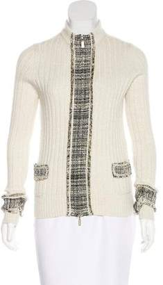 Chanel Cashmere Zip Cardigan