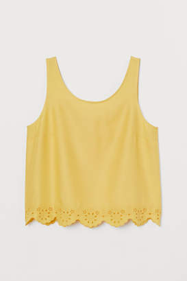 8b7efc17ea1d3b Scallop Edge Tank Top - ShopStyle