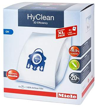 Miele XL Pack - 8x Hyclean 3D GN Vacuum Bags +1 Hepa Filter SF-HA 50